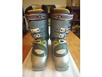 SALOMON ELLIPSE 8.0 Women's Grey Ski Boots Size 24.0 plus Salomon Boot Bag