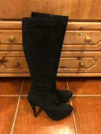 Black Dune Knee high boots - size 6