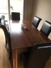 Mango Wood table with 6 chairs