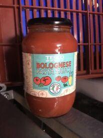 13 Jars Tesco Bolognese Pasta Sauce 725G