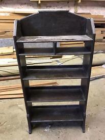 Antique free standing book shelf
