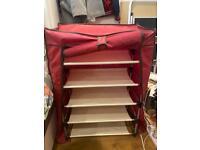 Detachable light shoe shelf with cover