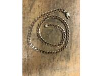 9ct gold curb chain - 24 inches - 49.9 grams