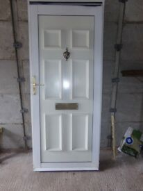 ALUMINIUM NICE UPVC DOOR PERFECT FOR OUT HOUSE ETC .