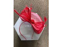 Julien Macdonald fascinator red