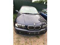 BMW 3 Series e46 2.5 Petrol Manual coupe blue breaking for parts / spares