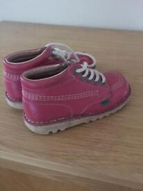 Girls pink kickers for sale
