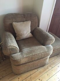 M&S 'Shabby Chic' Armchair and matching footstool