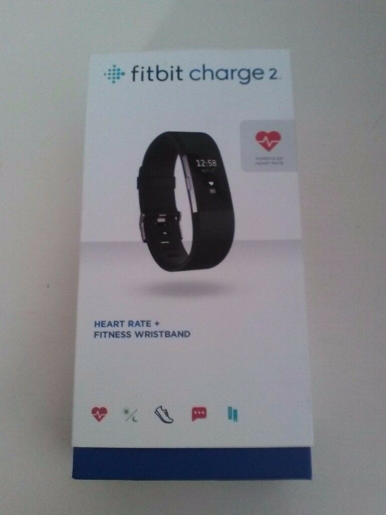 Fitbit Charge 2 Heart Rate + Fitness Large Wristband – Black.