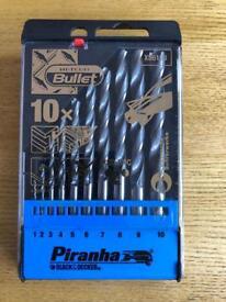 Piranha Hi Tech Bullet Drill Bit Set .