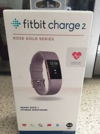 FITBIT CHARGE 2 (ROSE GOLD SERIES) - BRAND NEW IN BOX - RETAIL PRICE £100