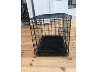 Small dog crate (dog not included)