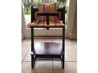 Stokke Tripp Trapp adjustable Highchair Walnut with full baby set