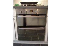 Gas hob and built under fan oven/ Elec grill like new only a year old pick up only