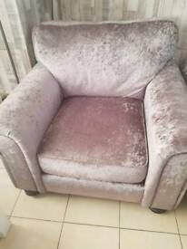Crushed velvet chair