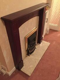 Fire place surrounding cover, near brand new, immaculate condition in brown