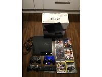 PS3 120gb boxed with games and extra controller and tv remote
