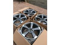 5x100 alloys wheels Audi a1 fabia Subaru 18 inch