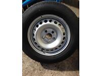 Vw Volkswagen transporter wheels tyres 215 65 16 c