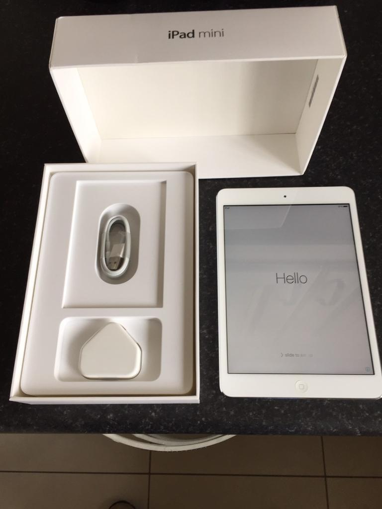 Apple iPad mini 16gb silver and white in mint conditionin Newtownabbey, County AntrimGumtree - Apple iPad mini 16gb in silver and white in mint condition wifi model this comes with original box new genuine apple charging plug and lead thanks for looking