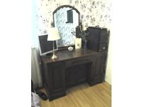 1920s wood brothers double wardrobes and dressing table