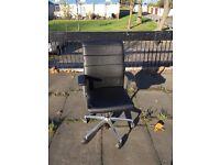 Sedus Crossline Prime Black Leather Swivel Office Chair