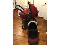 Egg Stroller Travel System - Berry Red