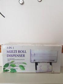 Kitchen 3 in 1 multi roll dispenser