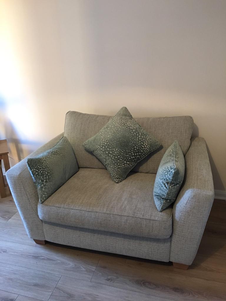 dfs sophia 2 seater cuddle chair in poole dorset gumtree