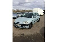Good driver CLIO 4 DOOR IN SILVER WITH 1YEARS MOT NICE CAR ALL ROUND ANY TRIAL PX CONSIDERED