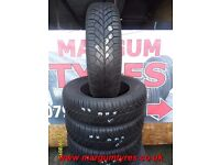 AB36. 4X 195/65/15 91T 2X8MM 1X7.5MM 1X6.5MM CONTINENTAL WINTER CONTACT - USED WINTER TYRES