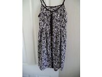 ATMOSPHERE (PRIMARK) BLACK AND WHITE DRESS, SIZE 12