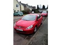 Peugeot 307cc in red/ black leather. New MOT and new cambelt kit. Private plate included. £1650 ono