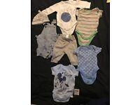 0-3 month boy clothes bundle