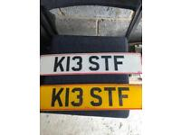 Private number plate K13 STF