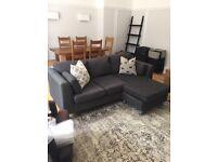 Dark Grey Reversible L Shaped Sofa