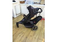 Phil & Teds Sport Double Buggy with Cocoon, Cosy Toes and Rain Cover