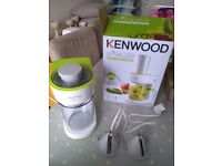 Kenwood Electic Spiralizer.2 cutting cones for linguine and pappardelle