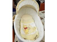 Moses Basket with Rocking Stand & Bedding