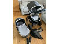 icandy peach 3 truffle travel system in good condition