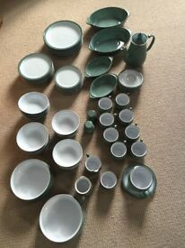 Denby Regency Green dinner service - NEARLY NEW CONDITION - 68 pieces