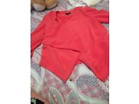 Stunning dark pink new look size 14 blazer very beautiful like new