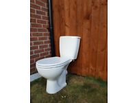 Toilet Pan with Seat & Dual Flush Cistern