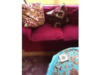 Corner Wine colour sofa £30