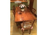 Brights of Nettlebed Fruitwood Refectory Dining Table and 6 Chairs