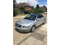 Great car! Silver Audi A4 Convertible 1.8 T Sport 2dr
