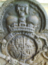 King Charles II Cast Iron Fireback