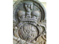 King Charles II Cast Iron Fireback