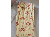 ELEGANT FULLY LINED FULL LENGTH CURTAINS £10 PER PAIR
