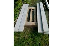 Concrete gravel boards for fencing
